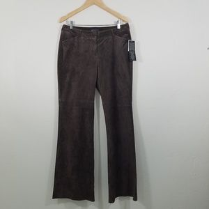 Moda International Wide Leg Leather Pants Size 12L